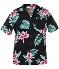 Mens True Face Hawaiian Print Retro 100 Cotton Shirt Hula Beach Holiday Top Big  Flower  340c702ddeac