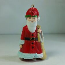 Vtg 1986 S is For Santa Christmas Ornament Mary Engelbreit, Claus in Sneakers