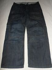 """Mens RIVER ISLAND Jeans Blue Denim Loose Fit Size W32 L30 Waist 32"""" L30"""""""