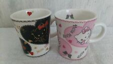Rare Sanrio Hello Kitty Cute Pink Pair Mug Cup Set Japan Only Limited Gift New