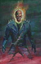 Mark Texeira Signed Marvel Comics Original Art Painting ~ Ghost Rider