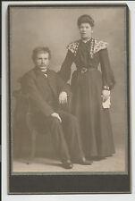 Antique Victorian Woman Man Couple Cabinet Card Photo Picture c3
