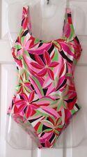 Ladies Swimming Costume - Size GB 32/C Cup - Anita Classix- Black/Red/Pink/Green