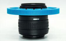 Cinematics follow Focus gear ring Belt 90-99mm for DSLR lens Adjustable blue 0.8