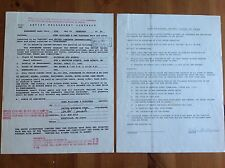 TONY WILLIAMS & THE PLATTERS TWICE SIGNED BY (HELEN WILLIAMS) CONTRACT 1992 GIG