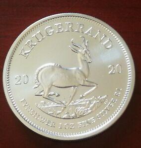 Sudáfrica. Moneda plata 1 Onza año 2020 S/C Krugerrand,envío certificado