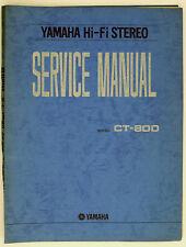 Yamaha ct-800 ORIGINAL AM/FM Stereo Tuner service-manual/Diagram + parts list