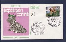 MONACO   enveloppe 1er jour   expo canine  chien  dogue  Allemand    1972