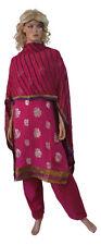 Pink  Salwar kameez chest Plus size DA-321 Chiffon Indian Clothing all SIzes