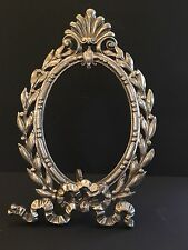 Vintage Silver Metal Louis XV Style Picture Frame