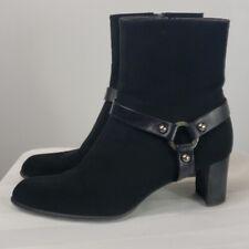 Womens Stuart Weitzman nylon short black booties Sz 8.5