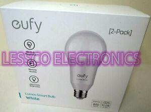 2 PACK - Eufy Lumos Smart Bulb LED Light Works w/Amazon Alexa & Google Assistant