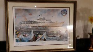 Britannia  Rules Print.    1982  By Christopher Dee  31/500 Falklands War