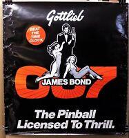 HTF 1980 promo advertising poster GOTTLIEB JAMES BOND 007 PINBALL GAME arcade VG