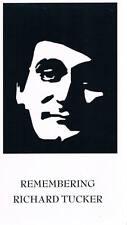 REMEMBERING RICHARD TUCKER VHS TAPE NOVARTIS PAVAROTTI FIRESTONE ED SULLIVAN S..