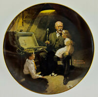 "Norman Rockwell 8.5"" Grandpas Treasure Chest 1983 Rockwell Light Campaign Series"