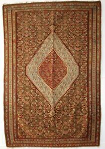 Antique Senneh Kilim, Very Fine Weave, Beautiful Design, Circa 1900