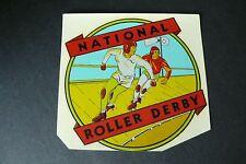 Vintage National Roller Derby Decal Label Sticker 1930s-40s