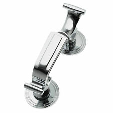 LARGE CHROME DOCTOR KNOCKER FRONT DOOR FURNITURE D12