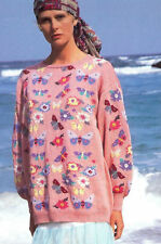 Susan Duckworth Butterfly Floral Sweater - Vintage Rowan Cottons