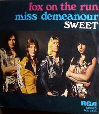 "THE SWEET MISS DEMENEANOUR   7""  1975 FOX ON THE RUN  - PRINT ERROR"
