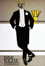 Bar Riche - German - Deco A3 Art Poster Print