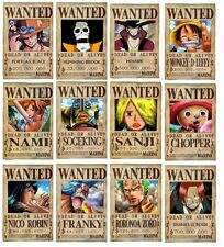 ONE PIECE SERIE 12 POSTER WANTED SHANKS CHOPPER BIG 4