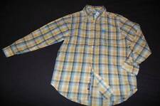 NWT CHILDREN'S PLACE Yellow Blue Plaid Button Down L/S Shirt M 7 8 Spring Easter