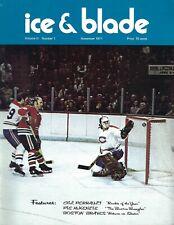 1971 Ice Blade hockey magazine Bobby Hull Chicago Blackhawks Montreal Canadiens