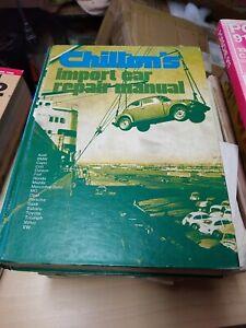 1973 Chilton's Import Car Repair Manual Book Audi BMW Mercedes  Volvo hard cover