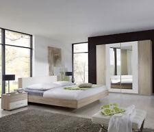 Schlafzimmer mit bett 180 X 200 Cm eiche SAEGERAU / Alpinweiss Woody 132-00482