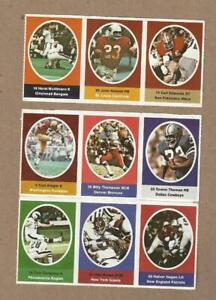 1972 Sunoco NFL Football Stamp Sticker Lot - 9 Different Excellent Condition