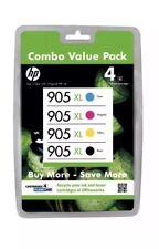 4 Genuine HP905XL Ink Cartridges For HP Officejet Pro 6970,6956,6950,6960