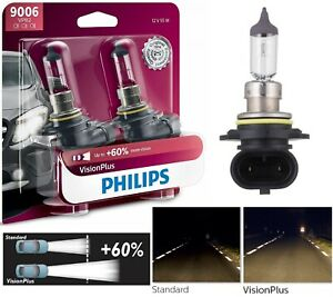 Philips VIsion Plus 60% 9006 HB4 55W Two Bulbs Head Light Replacement Halogen OE