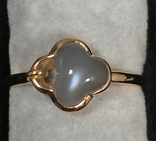 1.68ct Gray Moonstone Ring in 18K Rose Gold