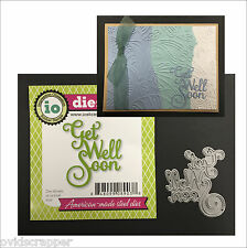 Get Well Soon Metal die Impression Obsession cutting dies DIE382-D words phrases