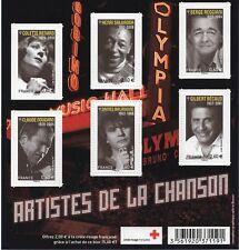 BLOC F4605 NEUF XX  LUXE - ARTISTES DE LA CHANSON - SERIE TIMBRES 4605-4610