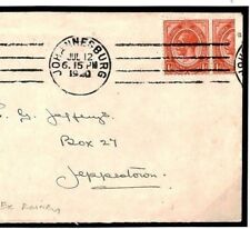 W106a South Africa COMMERCIAL KGV *BISECT* VARIETY Exhibition Quality 1920 Cover