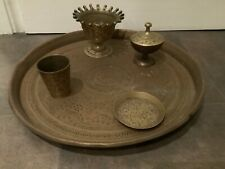 Lovely Vintage Large Brass Tray and Other Smaller Items