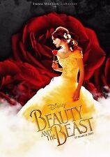 "Beauty and the Beast Movie 2017 Emma Watson New Disney Art Deco Poster 27x40"""