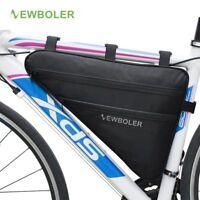 NEWBOLER Large Bicycle Triangle Bag Bike Frame Front Tube Waterproof Cycling