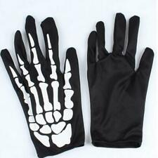 Adults Skeleton Gloves 3D Bones Hands Mens Womens Skull Hand Costume Reaper YD3
