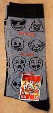 Emoji Men's Crew Socks Black/Gray