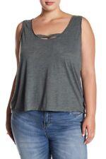 Melrose & Market Women's 3X Plus Sleeveless Gray Tank Top Shirt Grey Urban