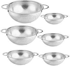 6Tlg Küchensieb Seiher Set Abtropfsieb Edelstahl Salat Nudel Sieb Küchenhelfer