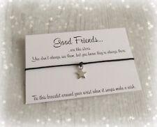 Good Friends Are Like Stars Charm Wish Friendship Bracelet Gift & Envelope