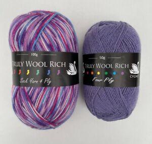 Sock 4 Ply Wool Yarn 150g Knitting Cygnet Truly Wool Rich