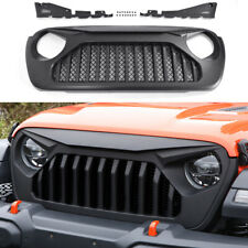 Front Matte Black Vader Grill Angry Bird Grille for 2018 19 20 Jeep Wrangler JL