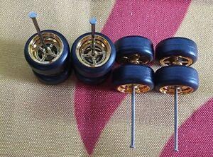 1/64 Rubber Wheels 2 set Pack Real Rider Hot Wheels Matchbox JDM Mazda Nissan c3