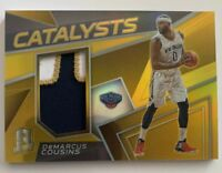 2017-18 SPECTRA DEMARCUS COUSINS GOLD CATALYSTS PRIZM PATCH JERSEY /10 PELICANS
